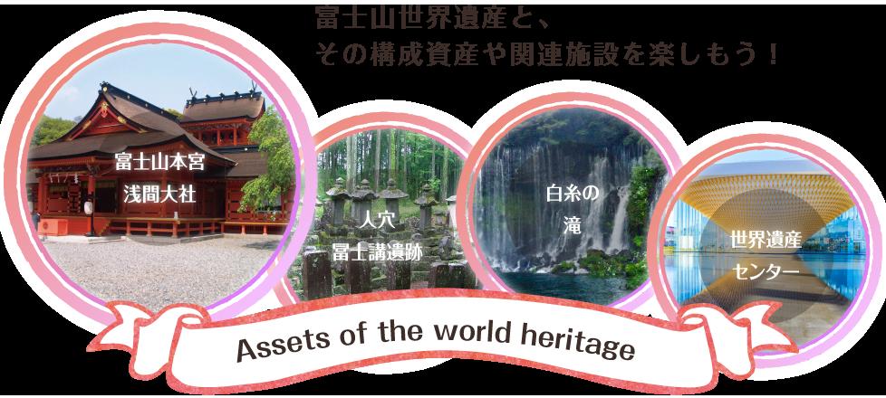 富士山世界遺産と、その構成資産や関連施設を楽しもう!